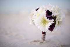 Bouquet of flower on beach Stock Photography