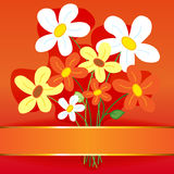 Bouquet flower card Royalty Free Stock Photography