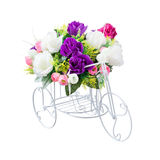 Bouquet flower and hand made bicycle form Royalty Free Stock Image