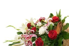 Bouquet of flower isolated on. White Royalty Free Stock Image