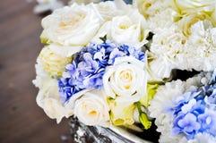 Bouquet,flower,rose. Hydrangea flowers in the vase Stock Photo