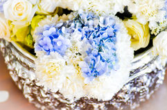 Bouquet,flower,rose,hydrangea,vase,flower pot,,carnation Royalty Free Stock Images