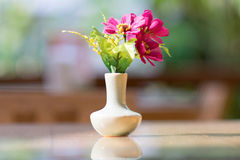 Bouquet of flower in vase Stock Photo