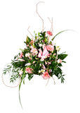 Bouquet of flowers. A bouquet of flowers isolated on white Stock Photo