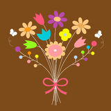 Bouquet of flowers. Illustration Stock Image