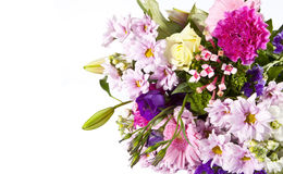 Bouquet of flowers. On white background Stock Photography