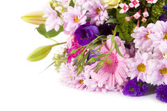 Bouquet of flowers. On white background Royalty Free Stock Image