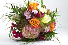 Bouquet of flowers. A graceful bouquet of colorful flowers and grasses Royalty Free Stock Photos