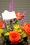 Bouquet of Flowers. A Bouquet of Flowers with a card Stock Images
