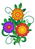 Bouquet of flowers. A bouquet of flowers. Vector illustration Stock Image