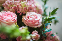 Bouquet of flowers. Beautiful bouquet of white and pink flowers Royalty Free Stock Photo