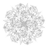 Bouquet of flowers in black and white colors, vector illustratio Royalty Free Stock Photo