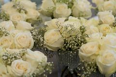 Bouquet of flowers, bunch of roses Royalty Free Stock Images