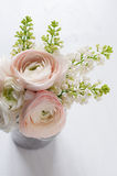 Bouquet of flowers in can Stock Image
