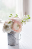 Bouquet of flowers in can Royalty Free Stock Image