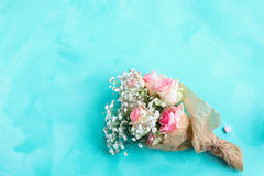 Bouquet of flowers on a canvas Royalty Free Stock Photos