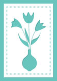 Bouquet of flowers, card for laser cutting. Royalty Free Stock Photography