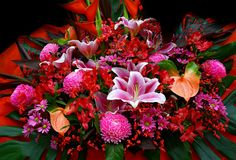 Bouquet flowers stock images