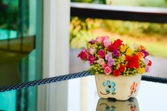 Bouquet of flowers. Bouquet flowers colorful blossom beautiful royalty free stock photo