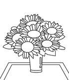 Bouquet of flowers coloring page Royalty Free Stock Photos