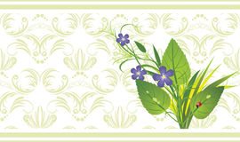 Bouquet of flowers on the decorative background Royalty Free Stock Image