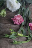 Bouquet of flowers eustoma Royalty Free Stock Photos