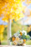 Bouquet of flowers with a fall/autumn background Stock Photos