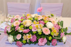 Bouquet of flowers for festive table. Stock Photography