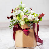 Bouquet flowers on floor Royalty Free Stock Photos