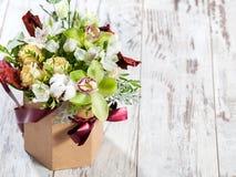 Bouquet flowers on floor Stock Photo