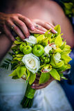 Bouquet from flowers and fruit Stock Photography