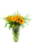 Bouquet of flowers in glass vase Stock Photography