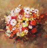 Bouquet of flowers, handmade painting. Bouquet of flowers, handmade oil painting on canvas Stock Photo