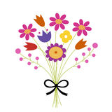 Bouquet of flowers. illustration Royalty Free Stock Image