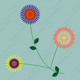 Bouquet with flowers. Illustration of a bouquet with flowers Royalty Free Stock Images