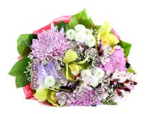 Bouquet flowers isolated Stock Photography