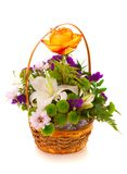 Bouquet flowers, isolated. Royalty Free Stock Photo