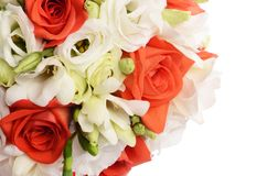 Bouquet of flowers  isolated on white background Royalty Free Stock Photo