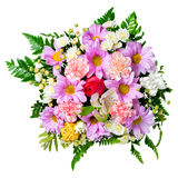 Bouquet of flowers is isolated on white background, Royalty Free Stock Image