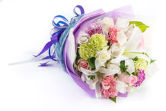 Bouquet of flowers isolated on white Stock Photography
