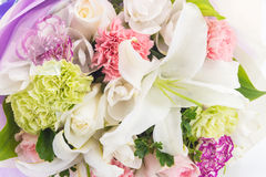 Bouquet of flowers isolated on white Royalty Free Stock Images
