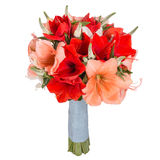 Bouquet of flowers isolated on white Royalty Free Stock Photos