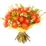 Bouquet of flowers isolated on white Royalty Free Stock Photo