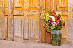 Bouquet of flowers. On a market Stock Photography