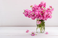 Bouquet of flowers matthiola Royalty Free Stock Image