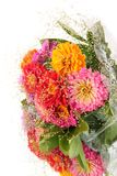 Bouquet flowers, on a mirror. Royalty Free Stock Photo
