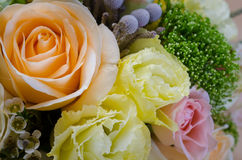 Bouquet of flowers in pastel colors Royalty Free Stock Photo