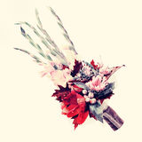Bouquet from flowers with retro filter effect. Stock Image