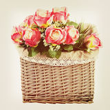 Bouquet from flowers with retro filter effect. Stock Photo