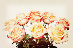 Bouquet from flowers with retro filter effect. Royalty Free Stock Photos